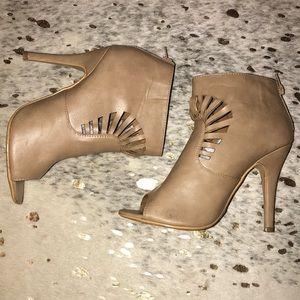 Shoes - Peep toe booties